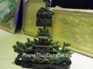 Thuyền rồng song long đá Lam Ngọc M072