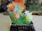 Mẫu đơn xanh đế gỗ- Khai hoa phú quý A227