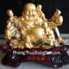 Phật di lặc vàng đồng tử H246G