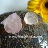 Mặt nhẫn mẫu đơn thạch anh hồng S6062