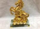 Ngựa vàng nguyên bảo đế thủy tinh G107A