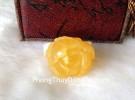 Mặt đeo cổ hổ phách Ba Lan khắc hình mẫu đơn A+++ S6350-8820