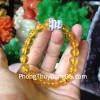 Chuỗi hổ phách hạt vàng trong A++ S6355-8880