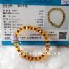 Chuỗi hổ phách hạt đĩa nâu vàng A++ S6356-3283