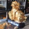 Chó vàng ôm mâm tài lộc C017A