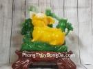 Thần heo vàng ngọc trên bụi trúc xanh LN014