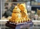 Chuột vàng kim ôm túi vàng TM011