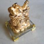 H149 150x150 Tỳ hưu vàng trên đế thủy tinh   tỳ hưu chiêu tài H149G