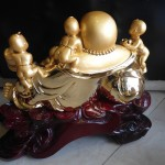 H246 150x150 Phật di lặc vàng đồng tử H246G