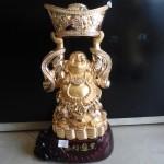 DSC02356 150x150 Phật di lặc đứng đỡ vàng H240G