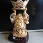 DSC02358 150x150 Phật di lặc đứng đỡ vàng H240G