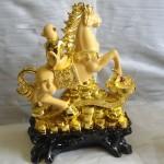 K006 150x150 Khỉ thần tài cưỡi ngựa trên như ý   Mã thượng phong hầu K006M