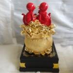 K029 150x150 Gia đình khỉ đỏ trên túi vàng   đời đời vượng tài K029M