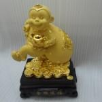 k035 1 150x150 Khỉ tài lộc vác túi tiền   Kim hầu tống phước K035M