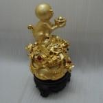 k047 150x150 Khỉ dâng vàng trên giỏ vàng  kim hầu tụ bảo K047M