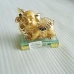 h388 11 150x150 Heo vàng trên đế thủy tinh H388G
