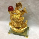 g093 1 150x150 Rồng vàng phun châu trên nguyên  bảo G093A