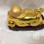 g137 1 150x150 Phật di lặc vàng đế gỗ G137A