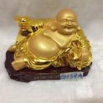 g137 2 150x150 Phật di lặc vàng đế gỗ G137A