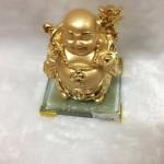 g139 1 150x150 Phật di lặc quảy vàng trên đế thủy tinh G139A