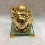 g139 2 150x150 Phật di lặc quảy vàng trên đế thủy tinh G139A
