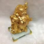 g142 1 150x150 Phật di lặc quảy xâu tiền vàng G142A