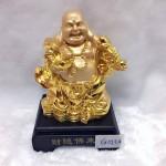 g143 1 150x150 Phật di lặc vàng gánh gậy như ý G143A