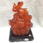 g154 2 150x150 Phật di lặc lưu ly đỏ có đèn G154A