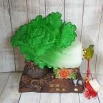 ln067 bap cai khung de tui tien 1 150x150 Bắp cải xanh khủng cuốn lưu ly trên đế gỗ túi tiền LN067