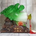 ln067 bap cai khung de tui tien 2 150x150 Bắp cải xanh khủng cuốn lưu ly trên đế gỗ túi tiền LN067