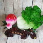 ln073 bap cai dao tien 1 150x150 Bắp cải xanh lớn bên đào tiên đỏ đế gỗ LN073