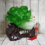 ln075 bap cai cuon nhu y cu lac 2 150x150 Bắp cải xanh lớn uốn như ý trên củ lạc gỗ LN075