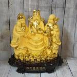 ln113 tam da sa kim vang lon 2 150x150 Tam đa phước lộc thọ vàng kim sa bên tháp nén vàng lớn LN113