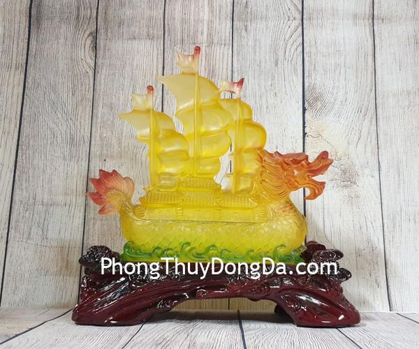 ln143 thuyen buom rong cam luu ly Thuyền rồng lưu ly trên đế gỗ Nhất Phàm Phong Thuận LN142