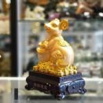 tm010 chuot vang nen vang 1 150x150 Tượng chuột vàng ôm nén vàng TM010