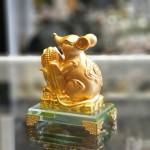 tm030 chuot vang bap vang 1 150x150 Chuột ôm bắp vàng đế thủy tinh TM030